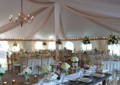 Head Table in the Tent Space