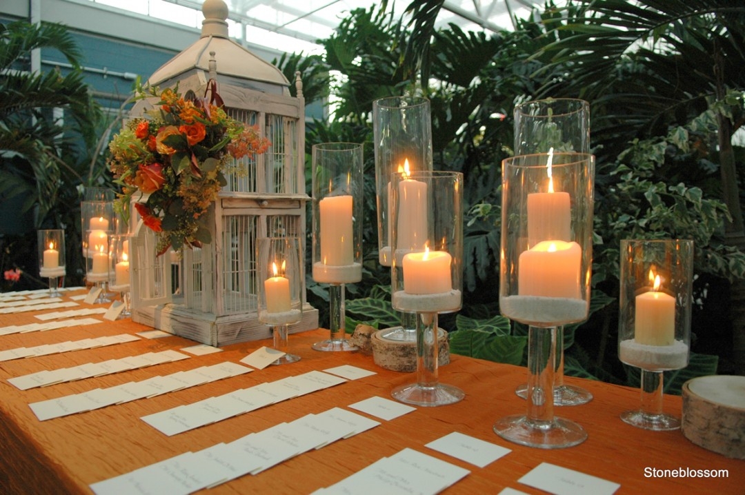 place cards in the botanical Center